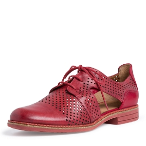 22405-23-ESCARPIN 23205-24-LACETS:Rouge