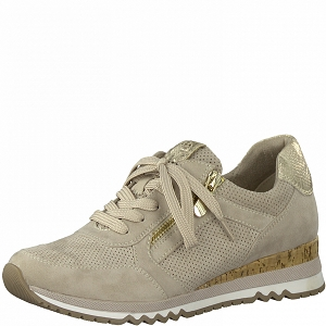 1909 LEATHER CREAM 23781-26-LACETS:Beige