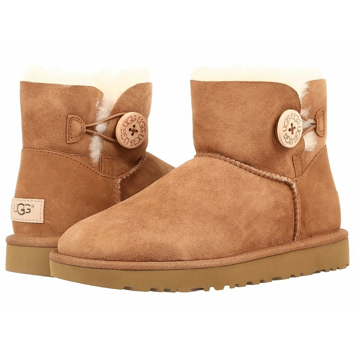 Ugg hiver sport mini bailey button 2 naturel