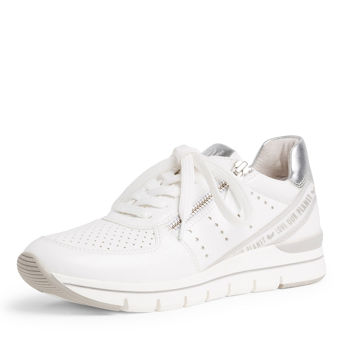 Marco tozzi chaussures a lacet 23723 24 ch. a lacets blanc
