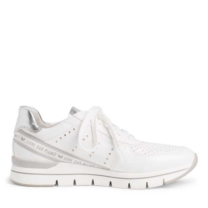Marco tozzi chaussures a lacet 23723 24 ch. a lacets blanc4565701_3