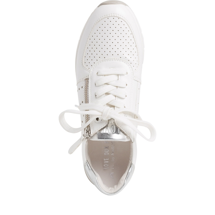 Marco tozzi chaussures a lacet 23723 24 ch. a lacets blanc4565701_5