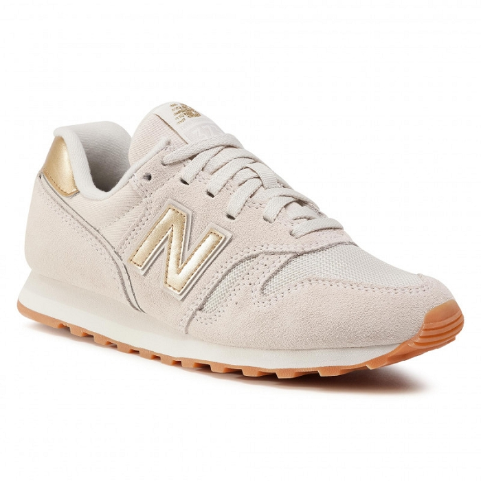 New balance chaussures a lacet wl373fc2 beige