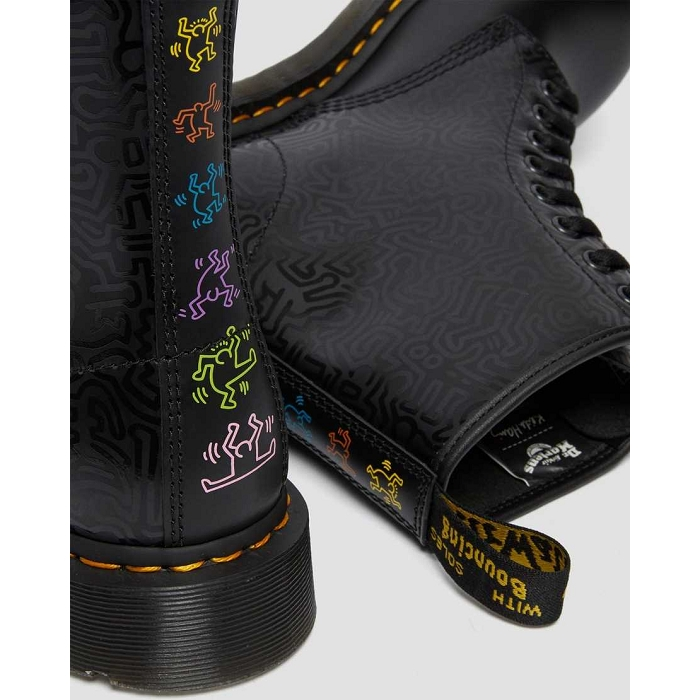 Dr martens hiver sport 1460 keith haring noir4623501_2