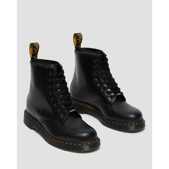 Dr martens hiver sport 1460 keith haring noir4623501_3