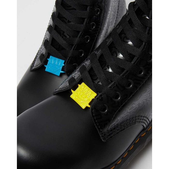 Dr martens hiver sport 1460 keith haring noir4623501_4