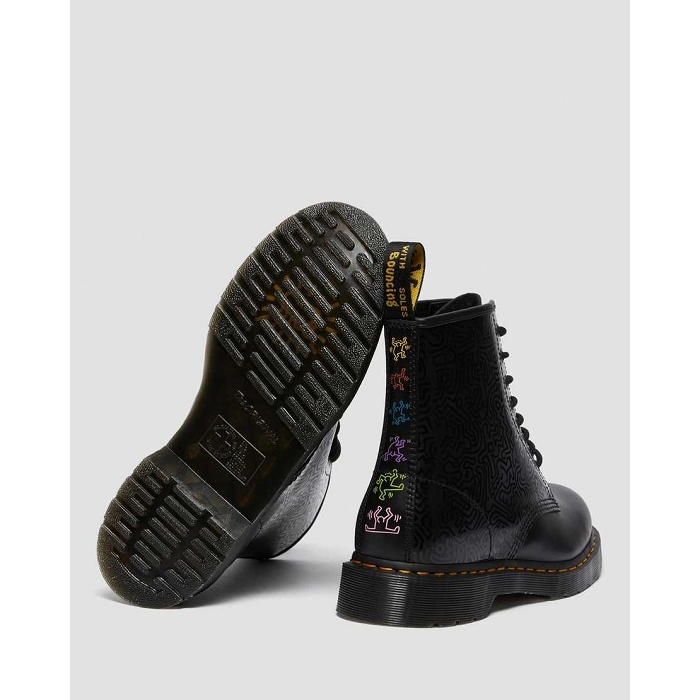 Dr martens hiver sport 1460 keith haring noir4623501_5